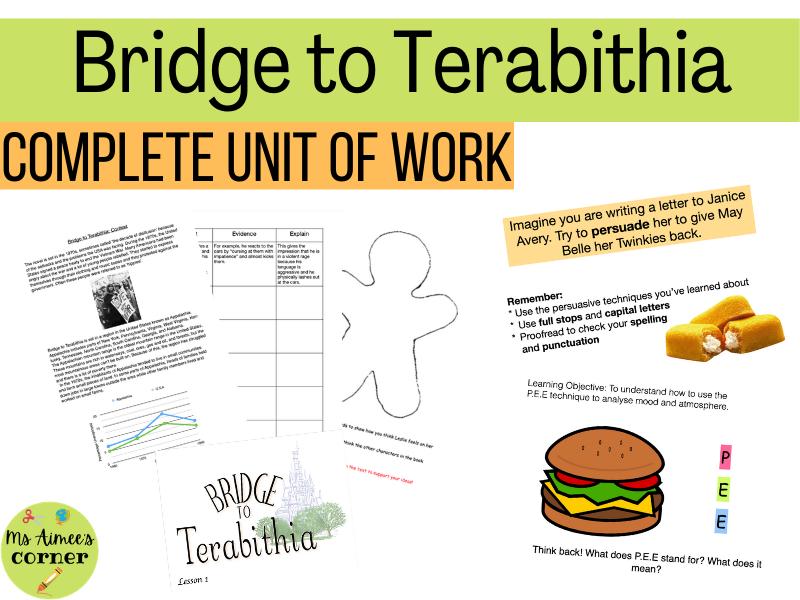 Bridge to Terabithia Full Unit of Work (14 Lessons)