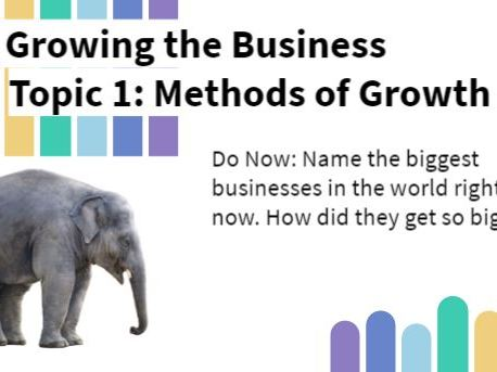 Edexcel GCSE 2.1 Business Growth Lesson and Video