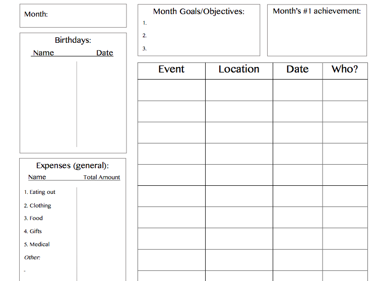 Organised study planners and target trackers