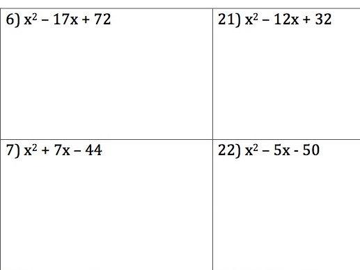 GCSE Maths - 30 Q & A - Factorising Quadratics a = 1