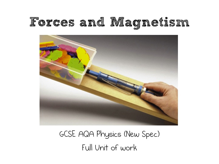 GCSE AQA Physics (New Spec) Full Unit of work for Forces and Magnetism