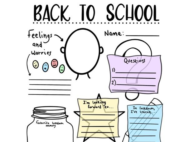 Back To School - Well-being Worksheet