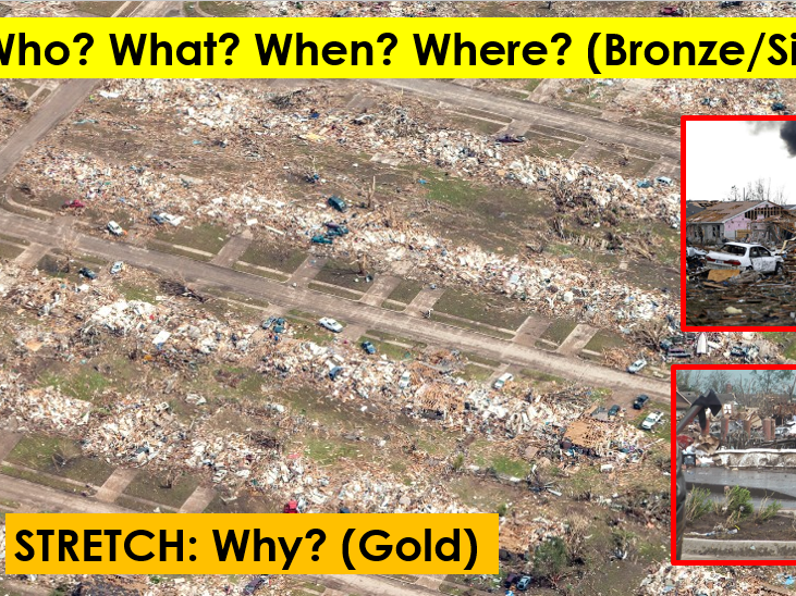 What happened in Oklahoma? (Tornado mystery lesson) - Observation