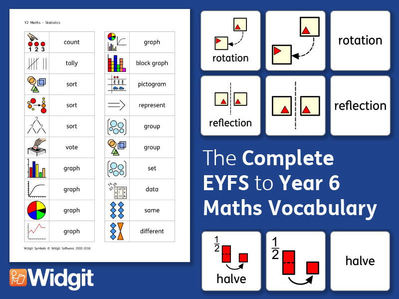 Maths Pack - The Complete Vocabulary with Widgit Symbols