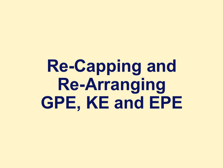 Recapping/Rearranging GPE EPE and KE (Low Ability/SEN) AQA