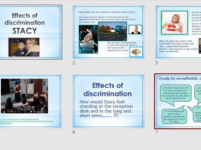 BTEC First - Unit 7 Equality & Diversity  in Health & Social Care LAA.