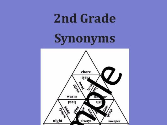 2nd Grade Synonyms - Puzzle