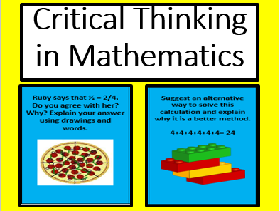 Critical thinking questions in mathematics