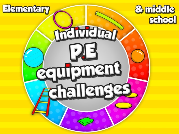 Individual P.E equipment challenges - Task cards for sport skill development