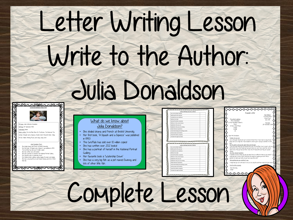 Letter Writing Complete Lesson Julia Donaldson By