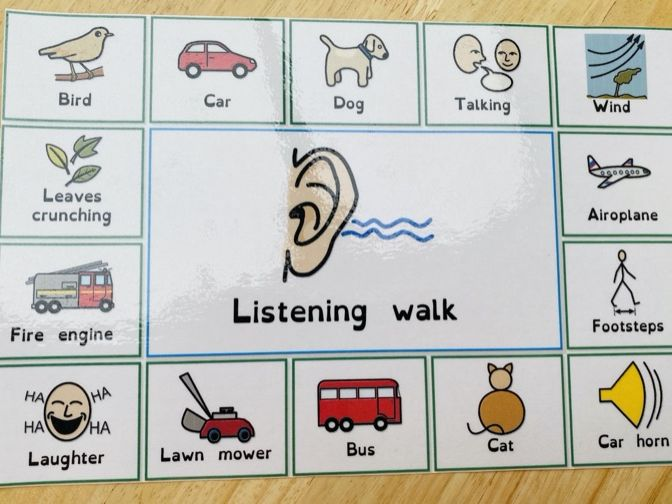 Listening walk lotto/checklist phase 1  phonics