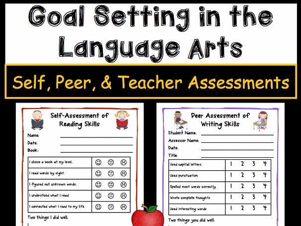Goal Setting For Students - Language Arts