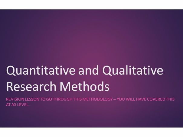 Quantitative Methods - Introduction to Sociology Research Methods (Part 1)