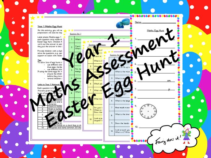 Year 1 Maths Assessment Easter Egg Hunt