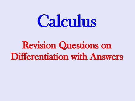 Calculus: Differentiation