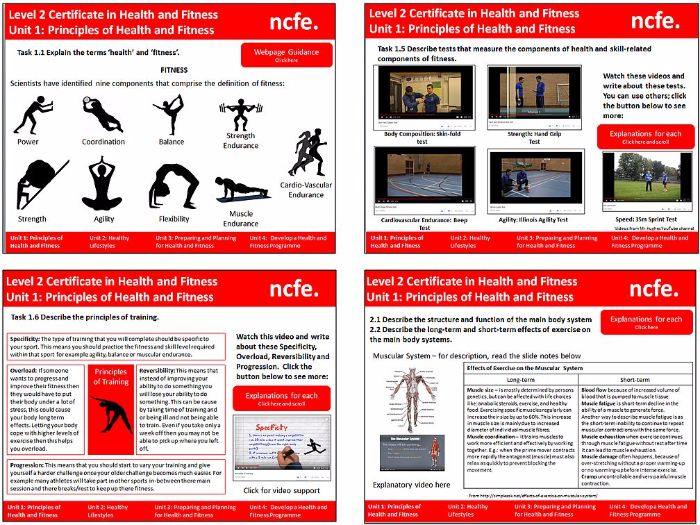 NCFE Level 2 Health and Fitness SOW - Unit 1 Principles of Fitness Unit