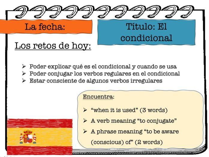 Intro to Spanish conditional tense