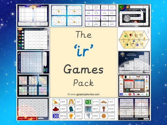 The 'ir' Phonics Games Pack (Phase 5)