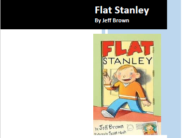 Flat Stanley by Jeff Brown Comprehension and Reading Activities