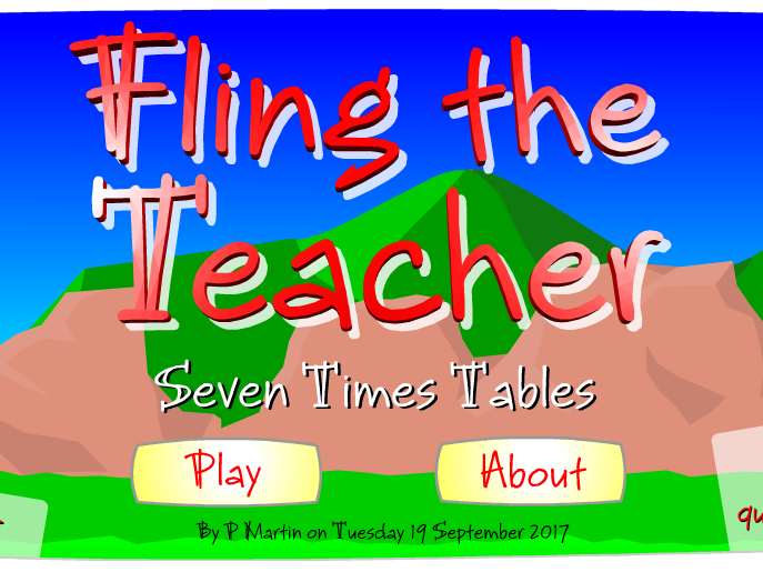 Starter or Plenary Game involving the Testing of the Times Tables.