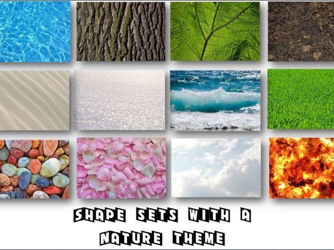 Shape Sets with a Nature Theme