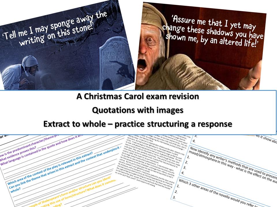 A Christmas Carol Revision GCSE 9-1