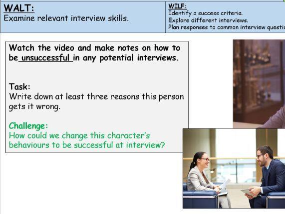 PSHE Interview Skills