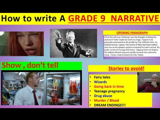 EDUQAS GCSE English Language: how to write A GRADE 9 NARRATIVE!