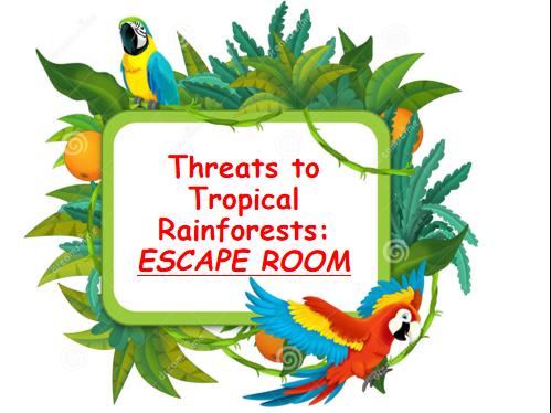 Tropical Rainforest threats escape room