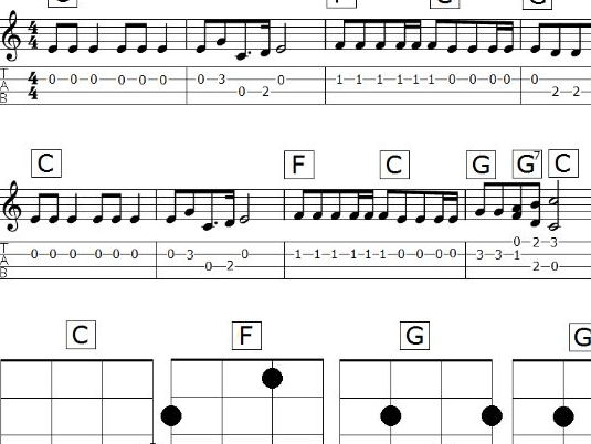Jingle Bells for ukuleles (instrumental)