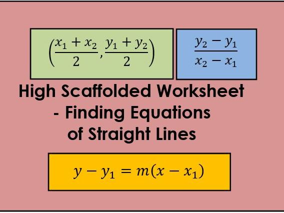High Scaffold - Equations of Straight Lines