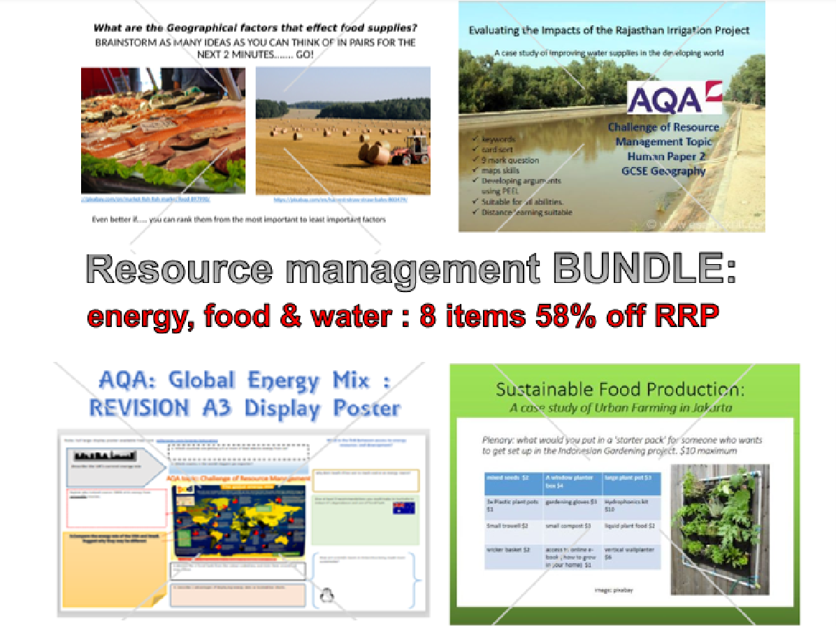 Resource Management; food, water, energy