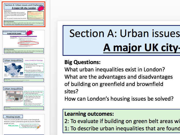 London Case Study - Inequalities, Social Deprivation and Housing (AQA 9-1 Geo)