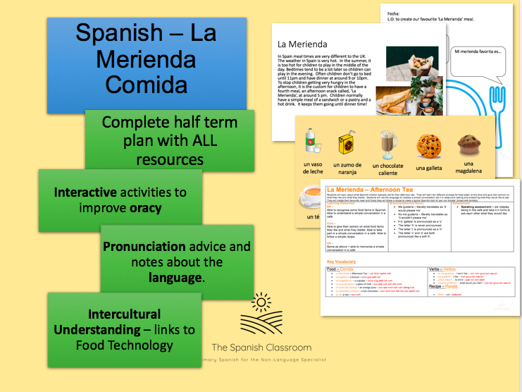 La Merienda Comida 'En el Café' Spanish Half Term Plan