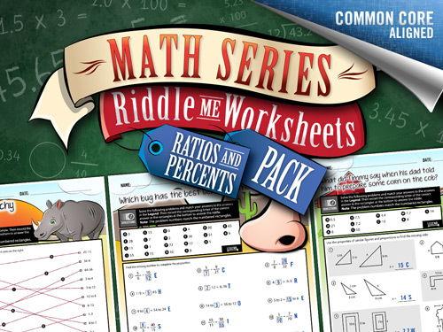 Ratios Worksheets, Percents Worksheets: Riddle-Me-Worksheets – Math Worksheets