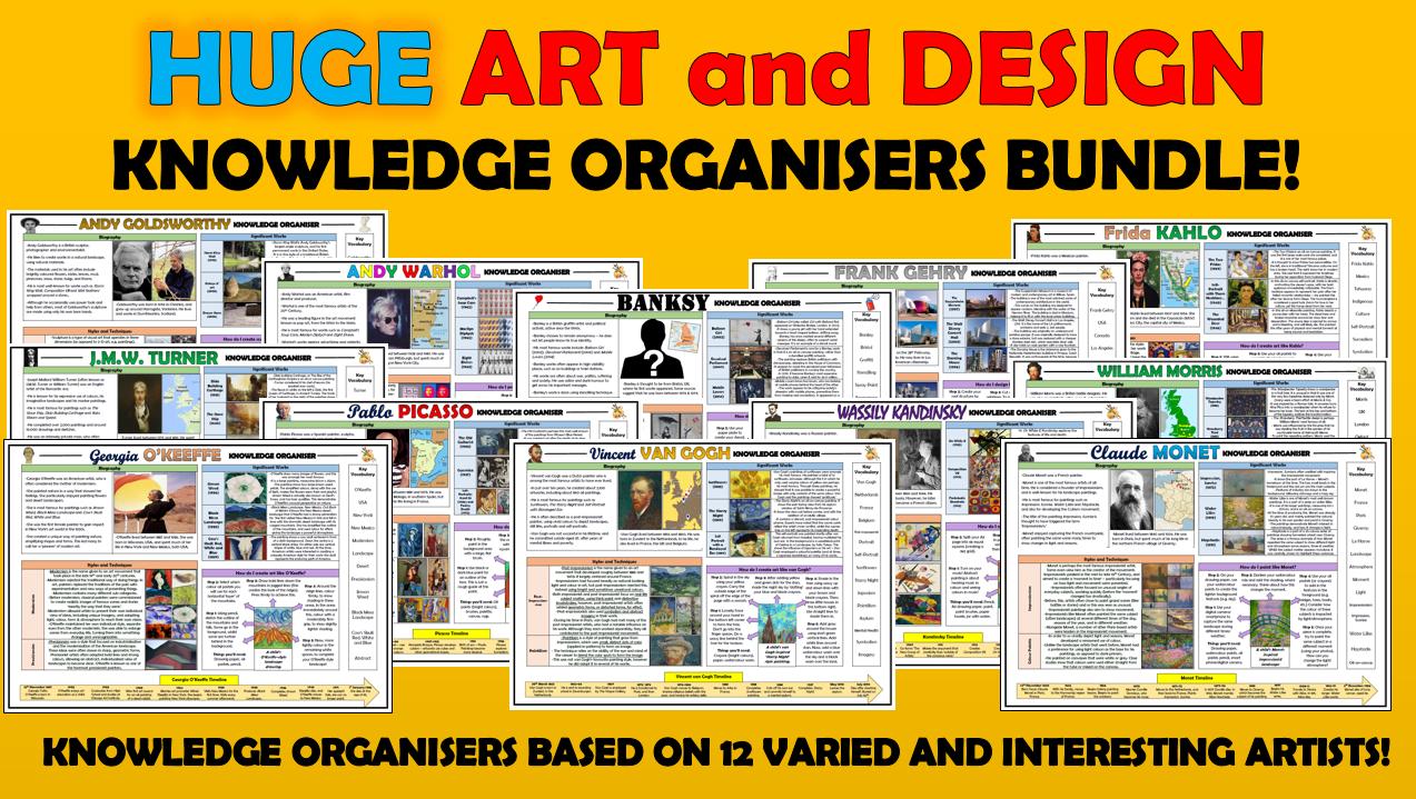 Huge Art and Design Knowledge Organisers Bundle!