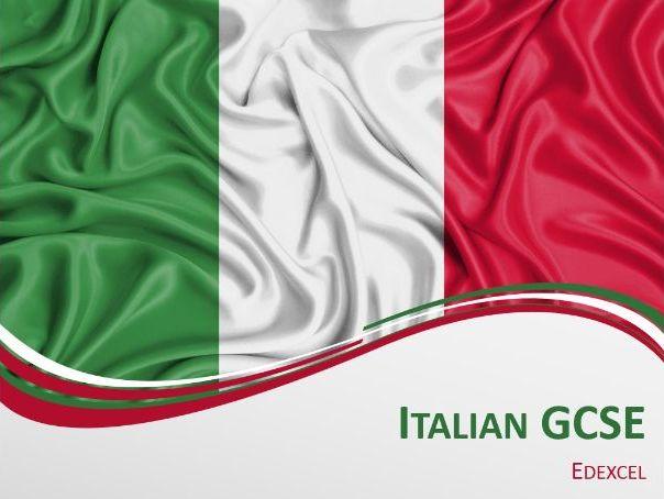 Italian GCSE Edexcel SOW Term 1