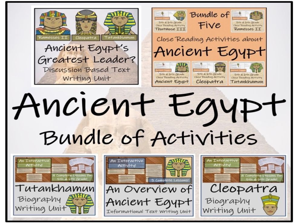 UKS2 History - Ancient Egypt Mega Bundle of Activities