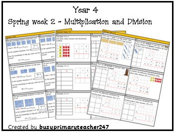 Year 4 - Spring - Block 1 - Multiplication and Division - week 2 - differentiated