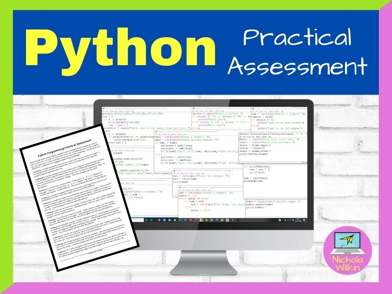 Python Practical Assessment (End of KS3 or start of GCSE)