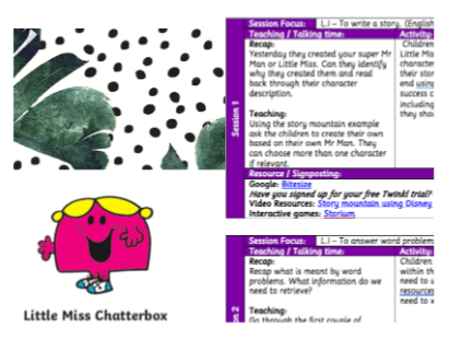 Year 3 Home Learning Pack - Mr Men