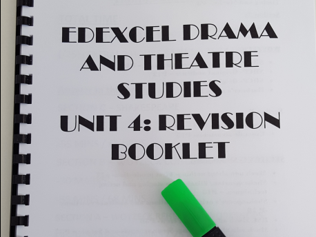 GCE EDEXCEL A level Drama and Theatre Studies  Unit 4 REVISION GUIDE