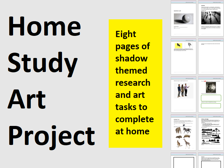 Home Study Art Project - Homework - Or in case of school closures