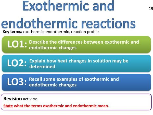 CC15a - Exothermic and endothermic reactions - reaction profiles, neutralisation, displacement