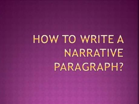 Narrative Paragraph Lesson With Sample and Outline!