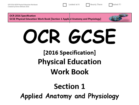 GCSE Physical Education (2016 OCR Specification) Section 2 [Physical Training]