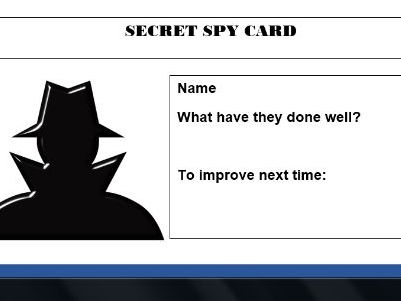 Secret Spy Cards - Behaviour for Learning Resource