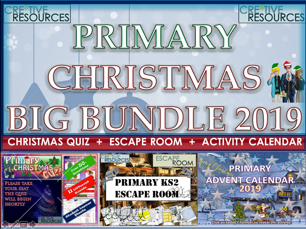Primary Christmas End of Term BUNDLE