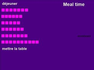 Nourriture (Food in French) Réaction en chaîne Chain Reaction Game