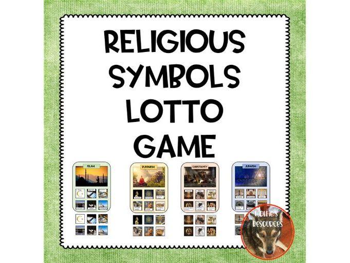Religious Symbols Lotto Game